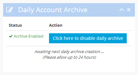 Waiting for the archive to be generated.