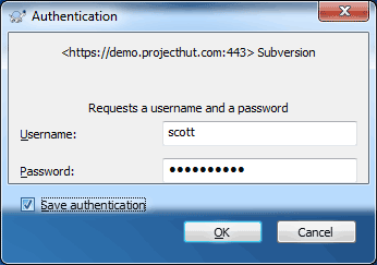 Enter User credentials